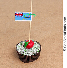 Flag of Tuvalu on cupcake
