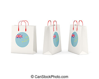Flag of tuvalu on shopping bags