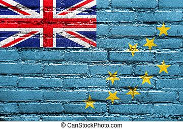 Flag of Tuvalu, painted on brick wall