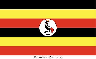 Flag of Uganda - Uganda flag vector illustration. created...