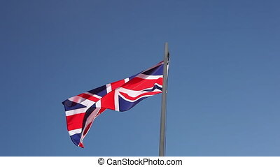 Flag of UK on a flagpole