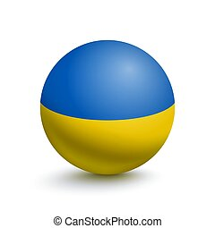 Flag of Ukraine in the form of a ball