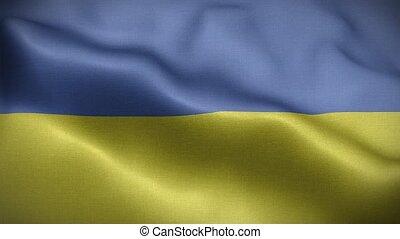 Flag of Ukraine Loop