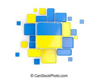 Flag of ukraine, mosaic background