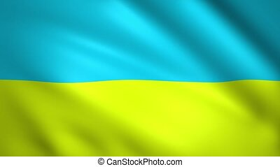 Flag of Ukraine moving in the wind