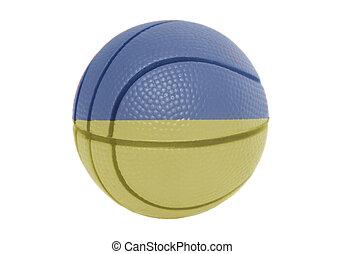 Flag of Ukraine on volleyball ball