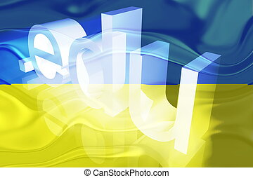 Flag of Ukraine wavy education - Flag of Ukraine, national...