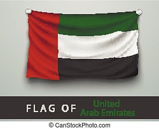 FLAG OF United Arab Emirates  battered