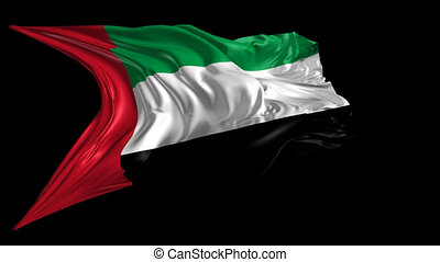 Flag of United Arab Emirates - Beautiful 3d animation of...