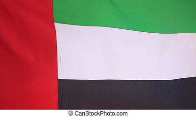 Flag of United Arab Emirates in a slow motion