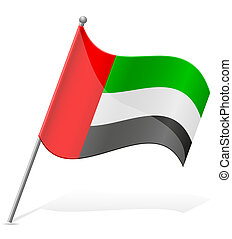 flag of United Arab Emirates vector illustration