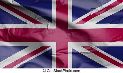 Flag of United Kingdom 3D