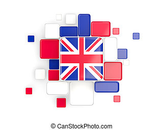 Flag of united kingdom, mosaic background