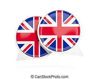Flag of united kingdom, round chat icon