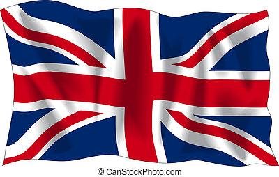 Flag of United Kingdom - Waving flag of United Kingdom...