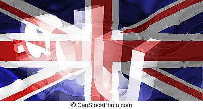 Flag of United Kingdom wavy education - Flag of United...