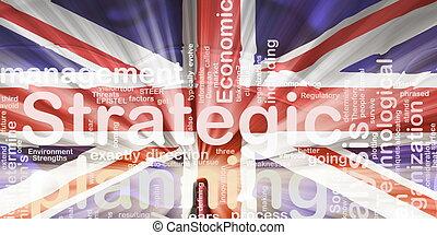 Flag of United Kingdom wavy planning - Flag of United...