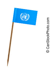 Flag of United Nations - Tooth pick wit a small paper flag...