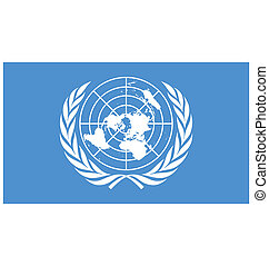 flag of United Nations - United Nations flag vector...