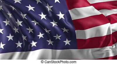 Flag of United States of America - Beautiful 3d animation of...
