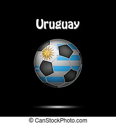 Flag of Uruguay as an soccer ball