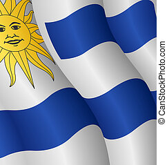 Flag of Uruguay - Illustration of the flag of Uruguay
