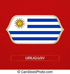 flag of Uruguay is made in Football style
