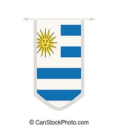 Flag of Uruguay on a banner