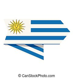 Flag of Uruguay on a label