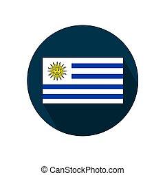 Flag of Uruguay on a white background. Vector illustration.