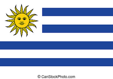 Flag of Uruguay Vector Accurate dimensions, elements in eps10