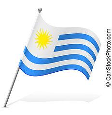 flag of Uruguay vector illustration