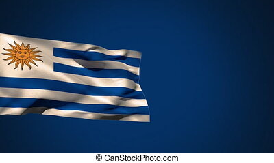 Flag of Uruguay waving