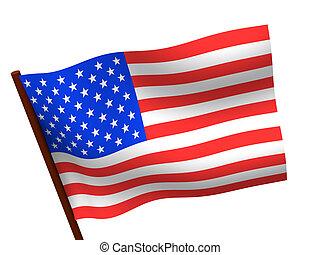 Flag of USA. 3d