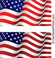 Flag of USA for design as a background or texture