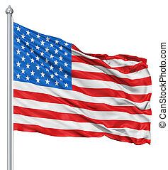Flag of USA - USA national flag waving in the wind