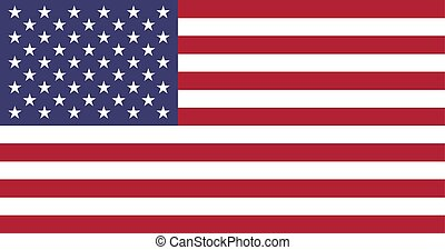 Flag of USA in national colors, vector.