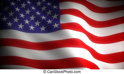 Flag of USA (Seamless) - Flag of USA (seamless with cloth...