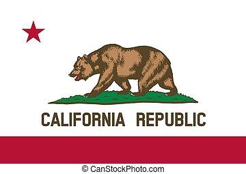 flag of USA state California