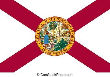 flag of USA state Florida