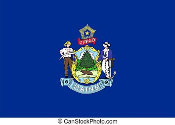 flag of USA state Maine