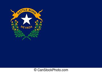 flag of USA state Nevada