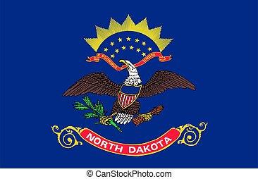 USA state North Dakota - flag of USA state North Dakota