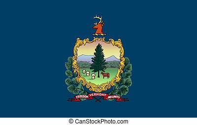 flag of USA state Vermont