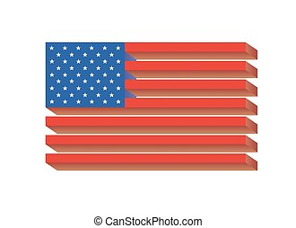 Flag of USA - vector illustration.