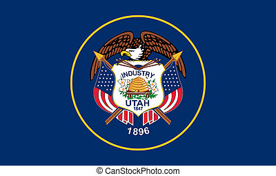 Flag of Utah correct size color illustration