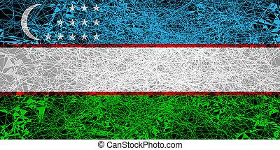 Flag of Uzbekistan.