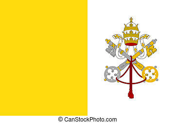 Flag of Vatican City State. Papal States - catholic country ...