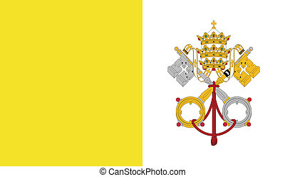 Flag of Vatican - Vatican flag vector illustration. created...