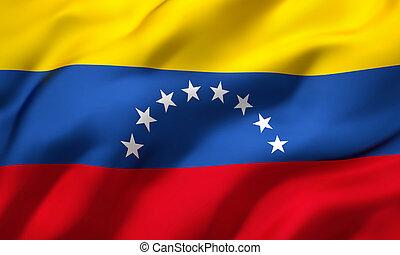 Flag of Venezuela blowing in the wind